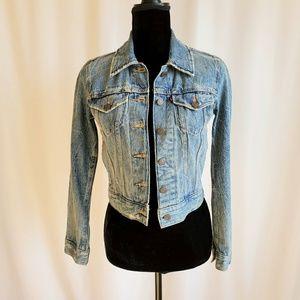 Levi's XS Distressed Jean Jacket Fall Cute Denim